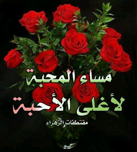 صور اجمل كلام مساء الخير , مسي علي الحبيب باجمل كلمات المساء