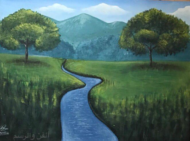 بالصور رسم منظر طبيعي , الابداع الفني ورسومات لمناظر طبيعيه 2466 2