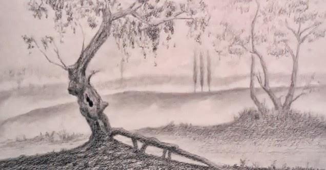 بالصور رسم منظر طبيعي , الابداع الفني ورسومات لمناظر طبيعيه 2466 4