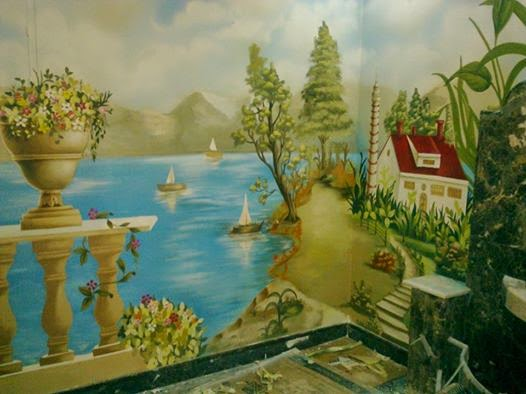 بالصور رسم منظر طبيعي , الابداع الفني ورسومات لمناظر طبيعيه 2466 7