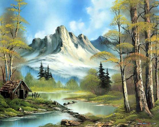 بالصور رسم منظر طبيعي , الابداع الفني ورسومات لمناظر طبيعيه 2466 8