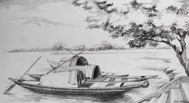 بالصور رسم منظر طبيعي , الابداع الفني ورسومات لمناظر طبيعيه 2466