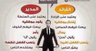 صوره الفرق بين القائد والمدير , شرح بسيطه يوضح الفرق بين القائد والمدير