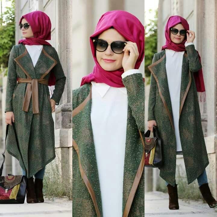 بالصور تنسيق الملابس للمحجبات , افكار متنوعه لتنسيق ملابس المحجبات 2526 5