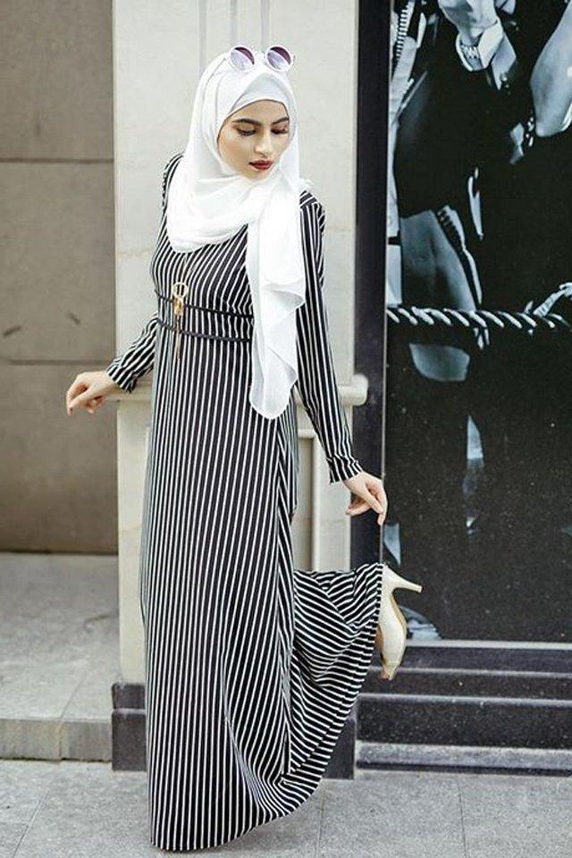 بالصور تنسيق الملابس للمحجبات , افكار متنوعه لتنسيق ملابس المحجبات 2526 7