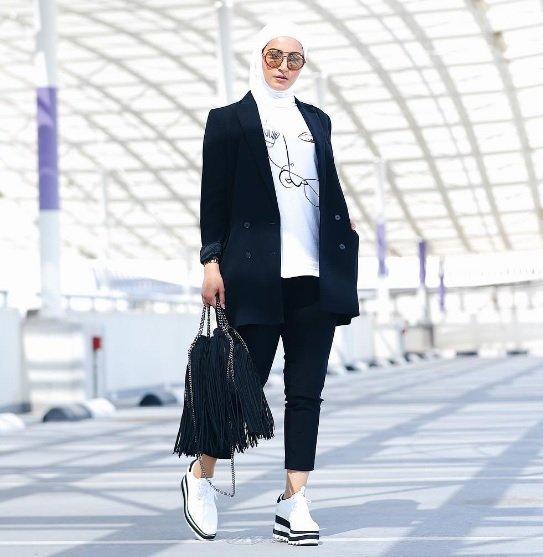بالصور تنسيق الملابس للمحجبات , افكار متنوعه لتنسيق ملابس المحجبات 2526 8