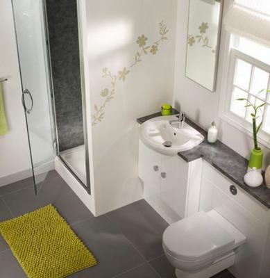 صورة ديكورات حمامات صغيرة جدا وبسيطة , تصاميم ديكورات متميزة للحمامات الضيقه 2612 2