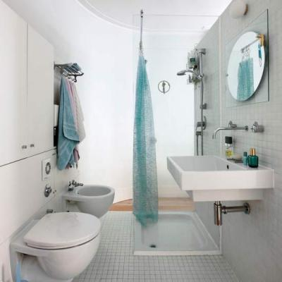 صورة ديكورات حمامات صغيرة جدا وبسيطة , تصاميم ديكورات متميزة للحمامات الضيقه 2612 3