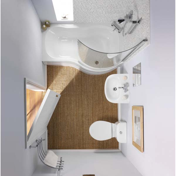 صورة ديكورات حمامات صغيرة جدا وبسيطة , تصاميم ديكورات متميزة للحمامات الضيقه 2612 4
