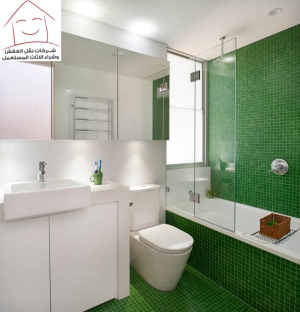 صورة ديكورات حمامات صغيرة جدا وبسيطة , تصاميم ديكورات متميزة للحمامات الضيقه 2612 5