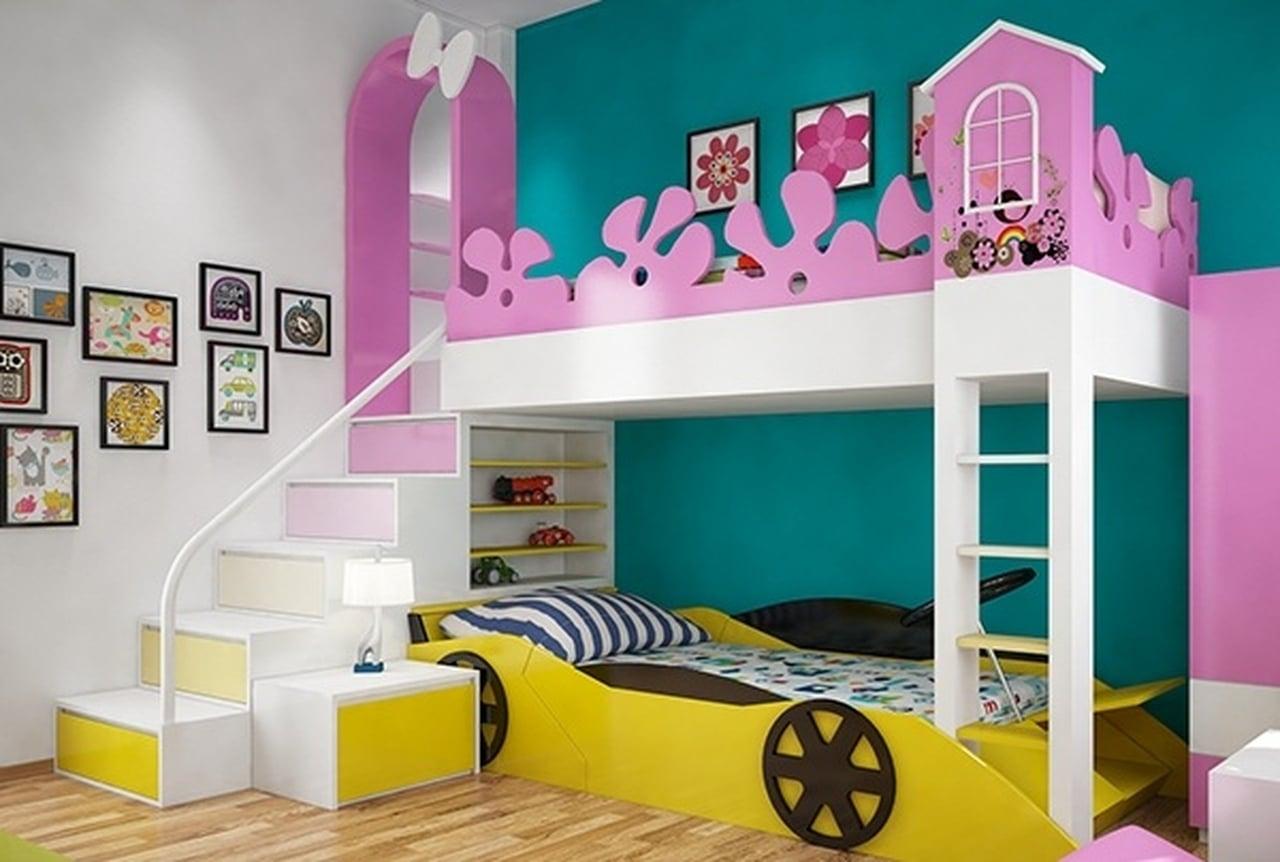 صورة غرف نوم اطفال , اشكال مختلفه لغرف نوم مودرن للاطفال 2683 5