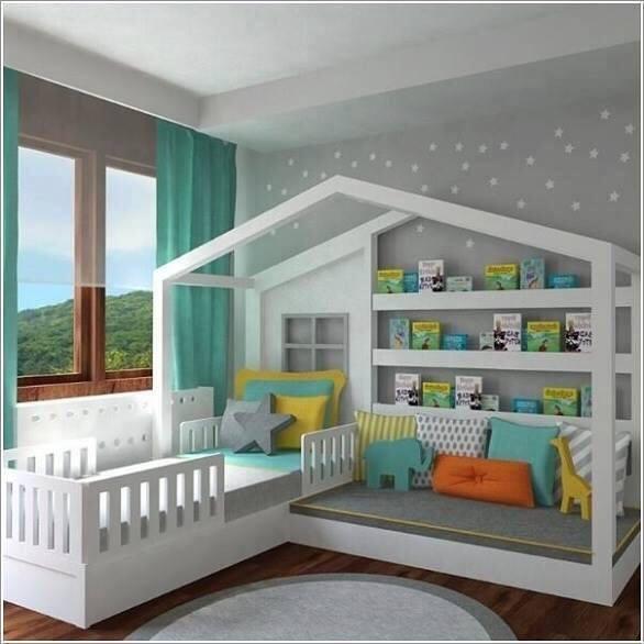 صورة غرف نوم اطفال , اشكال مختلفه لغرف نوم مودرن للاطفال 2683 6