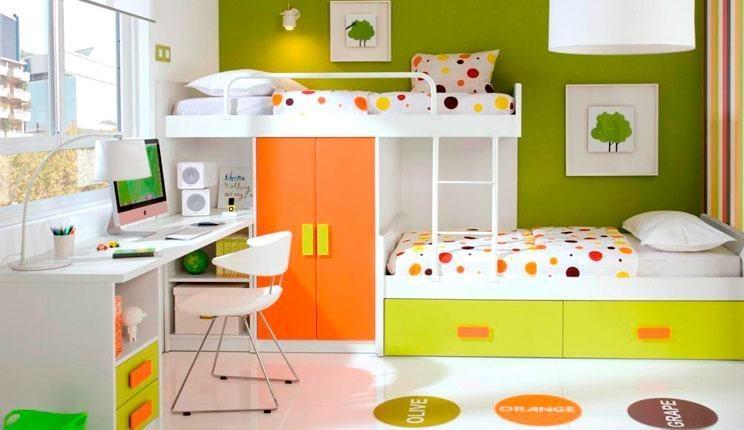 صورة غرف نوم اطفال , اشكال مختلفه لغرف نوم مودرن للاطفال 2683 7