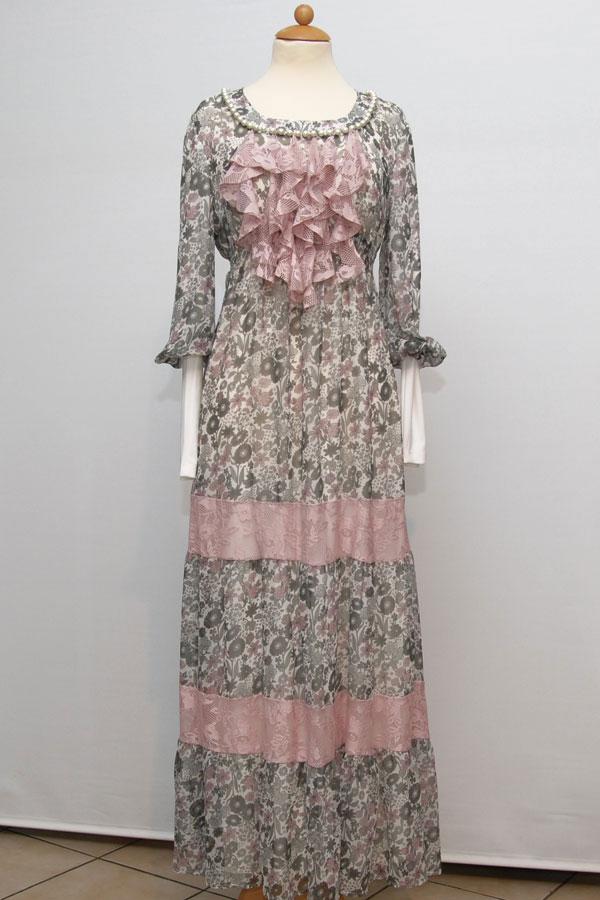 بالصور فساتين طويلة للمحجبات , اشيك فستان للمحجبات 3820 7