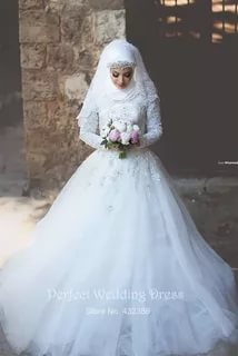 صوره بدلات اعراس , اجمل فساتين الزفاف للمحجبات
