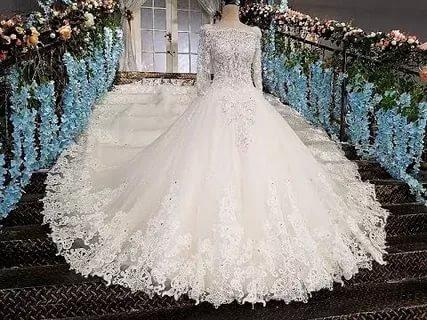 بالصور بدلات اعراس , اجمل فساتين الزفاف للمحجبات 1107 11