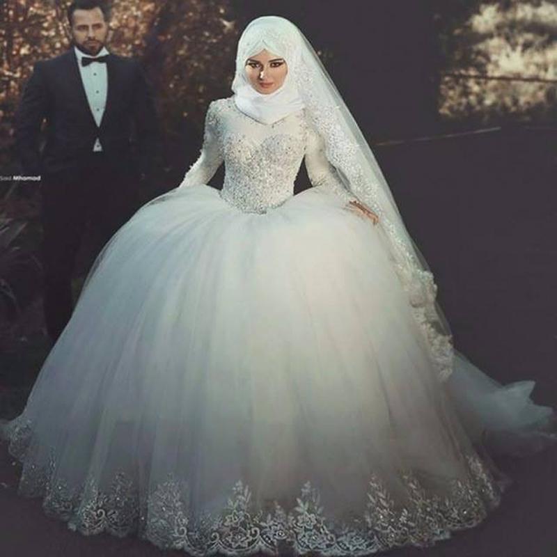 بالصور بدلات اعراس , اجمل فساتين الزفاف للمحجبات 1107 2