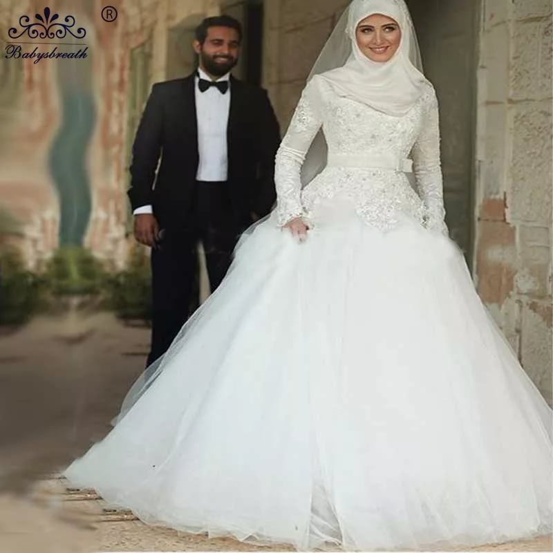 بالصور بدلات اعراس , اجمل فساتين الزفاف للمحجبات 1107 3