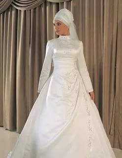 بالصور بدلات اعراس , اجمل فساتين الزفاف للمحجبات 1107 5