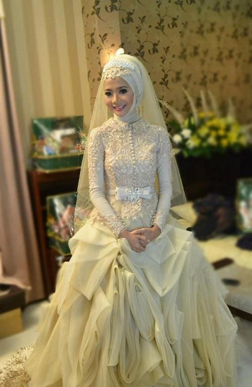 بالصور بدلات اعراس , اجمل فساتين الزفاف للمحجبات 1107 7