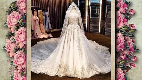 بالصور بدلات اعراس , اجمل فساتين الزفاف للمحجبات 1107 8