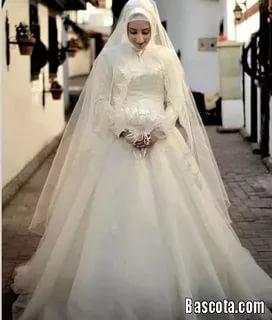 بالصور بدلات اعراس , اجمل فساتين الزفاف للمحجبات 1107 9