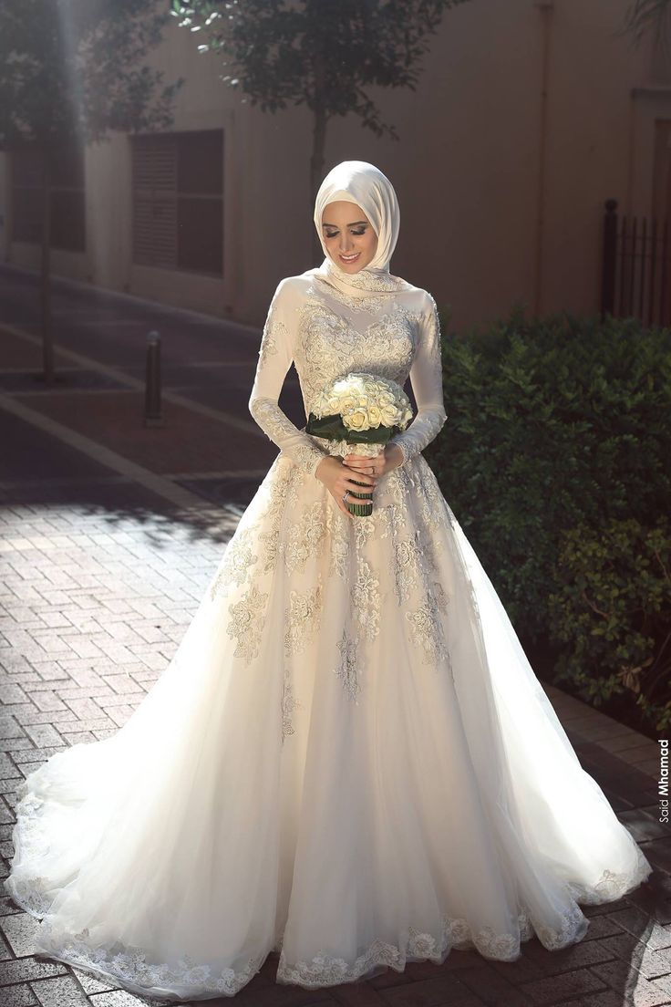 بالصور بدلات اعراس , اجمل فساتين الزفاف للمحجبات 1107
