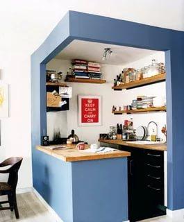 بالصور تصميم مطابخ صغيرة , اجمل الصور لديكورات المطبخ الضيق 1138 11