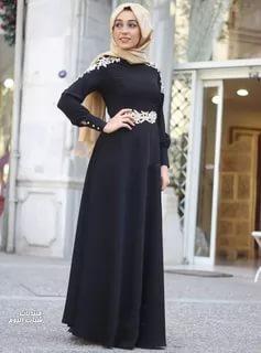 بالصور فساتين سهرة محتشمة , نماذج لفستان سهرة مقفول للمحجبات 1245 5