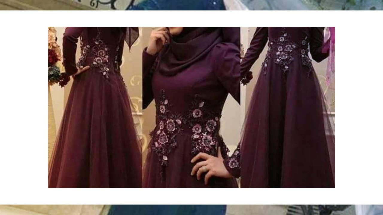 بالصور فساتين سهرة محتشمة , نماذج لفستان سهرة مقفول للمحجبات 1245 7