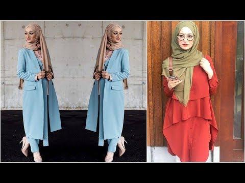 بالصور ملابس محجبات كاجوال , احدث التصميمات الكاجوال للمحجبات 1246 5
