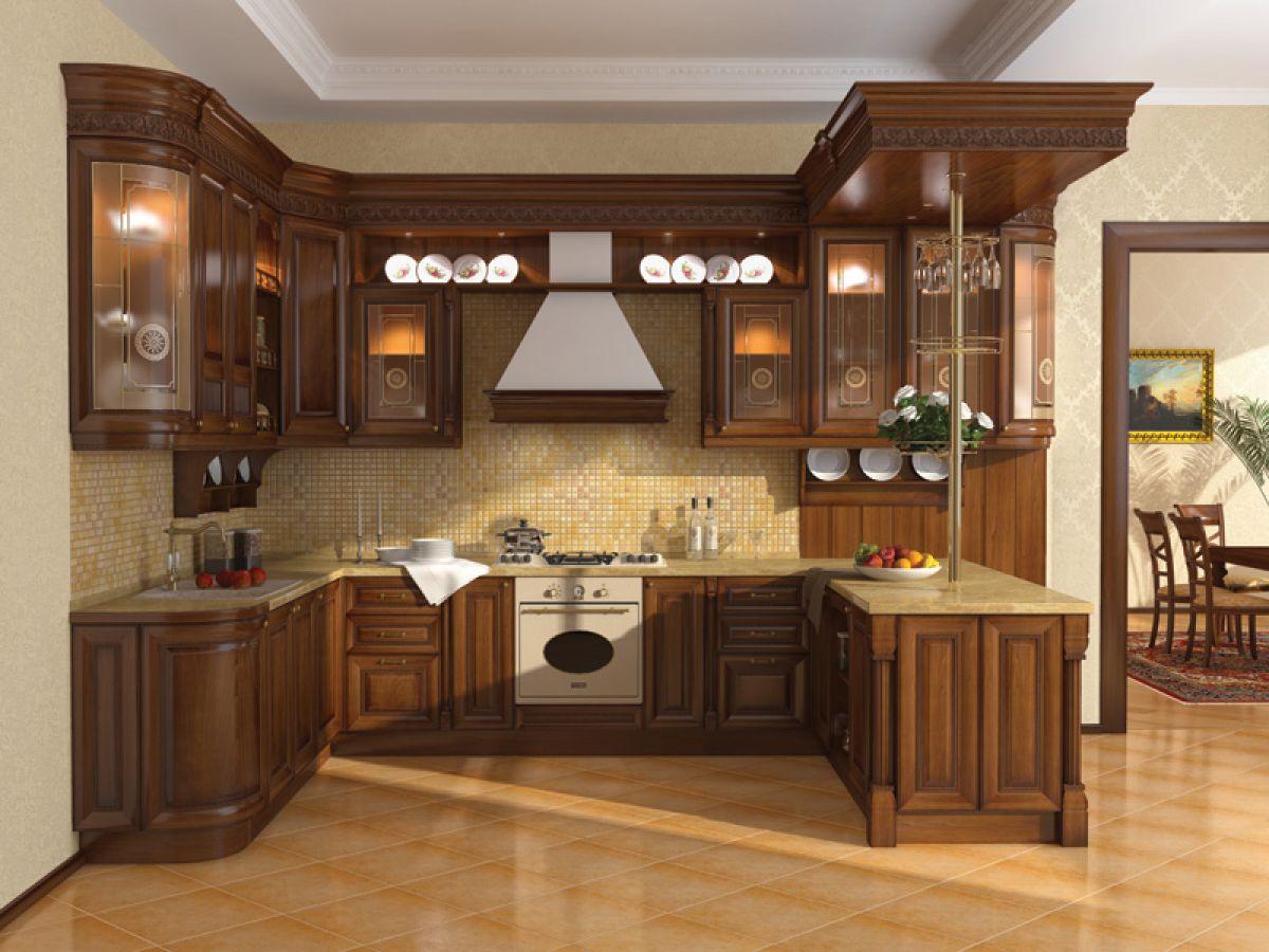 صوره صور مطابخ خشب , احدث الوان المطبخ الخشب الحديث