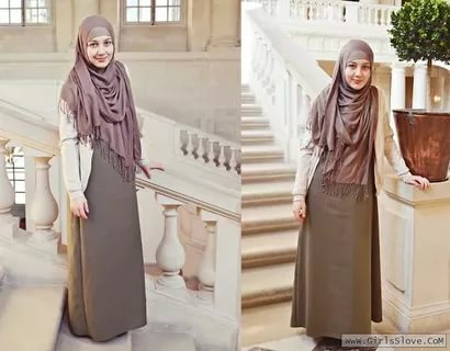 بالصور لبس بنات محجبات , احدث الموضات لملابس المحجبات 1302 4