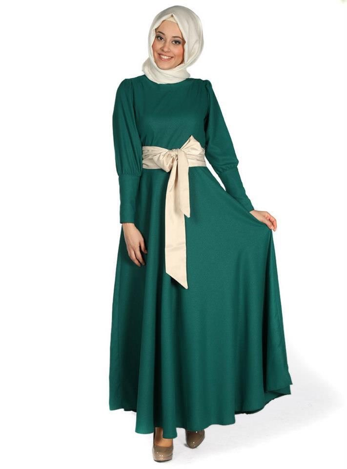 بالصور ملابس سهرة , اجمل لباس سوارية للمحجبات 1351 10
