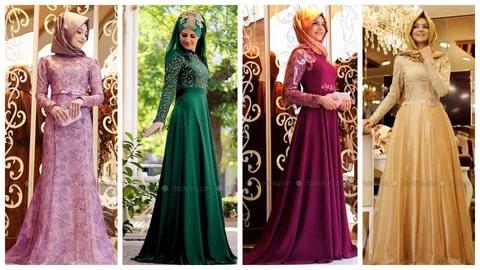 بالصور ملابس سهرة , اجمل لباس سوارية للمحجبات 1351 2
