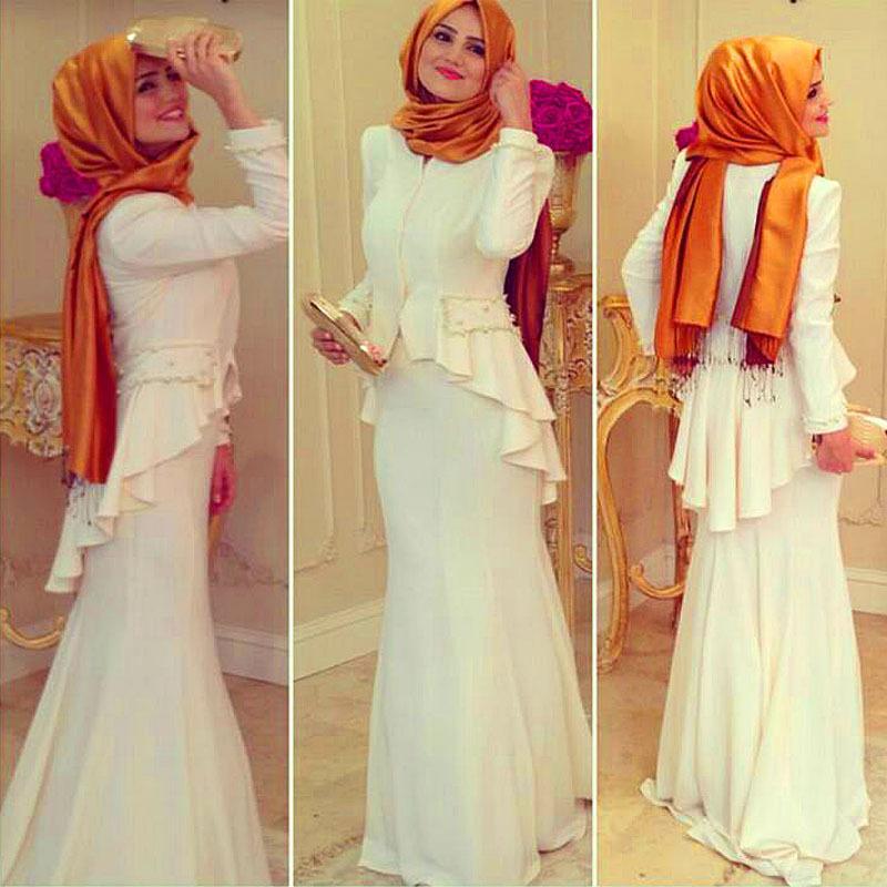 بالصور ملابس سهرة , اجمل لباس سوارية للمحجبات 1351 3