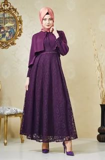 بالصور ملابس سهرة , اجمل لباس سوارية للمحجبات 1351 5
