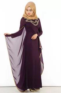 بالصور ملابس سهرة , اجمل لباس سوارية للمحجبات 1351 6