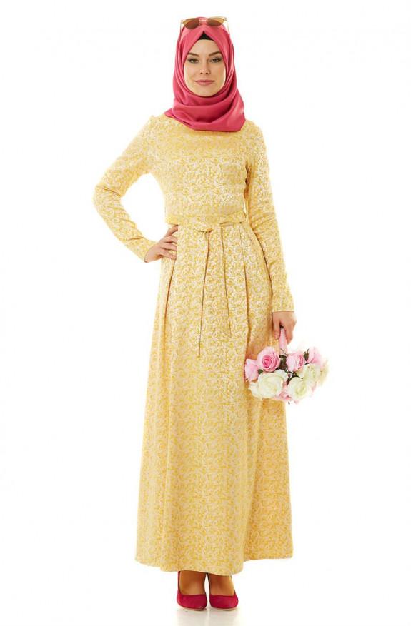 بالصور ملابس سهرة , اجمل لباس سوارية للمحجبات 1351 8