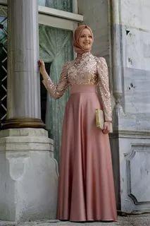 بالصور ملابس سهرة , اجمل لباس سوارية للمحجبات 1351 9