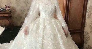 فساتين زفاف محجبات , احدث فساتين زفاف للمحجبات