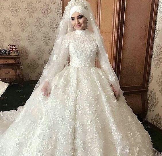 صور فساتين زفاف محجبات , احدث فساتين زفاف للمحجبات