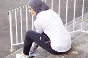 صورة ملابس رياضية للمحجبات , لباس رياضى يناسب الفاتنات المحجبات