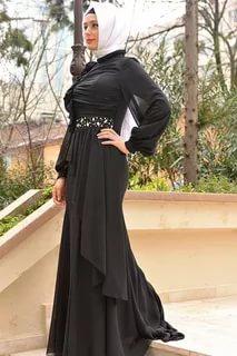 بالصور احدث فساتين سواريه , فستان سوارية شيك محتشم مناسب للمحجبات 1445 10