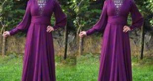 صوره احدث فساتين سواريه , فستان سوارية شيك محتشم مناسب للمحجبات