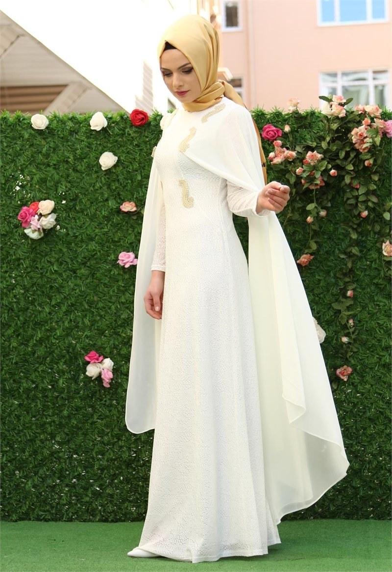 بالصور احدث فساتين سواريه , فستان سوارية شيك محتشم مناسب للمحجبات 1445 2