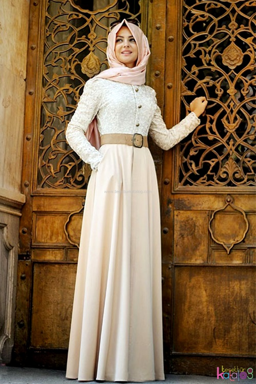 بالصور احدث فساتين سواريه , فستان سوارية شيك محتشم مناسب للمحجبات 1445 4