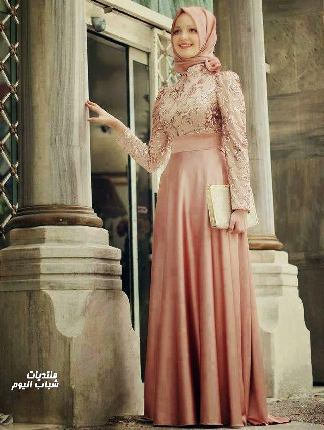 بالصور احدث فساتين سواريه , فستان سوارية شيك محتشم مناسب للمحجبات 1445 7