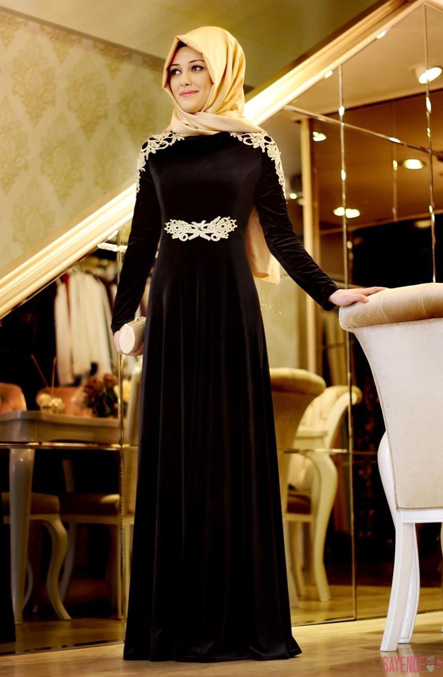 بالصور احدث فساتين سواريه , فستان سوارية شيك محتشم مناسب للمحجبات 1445 8