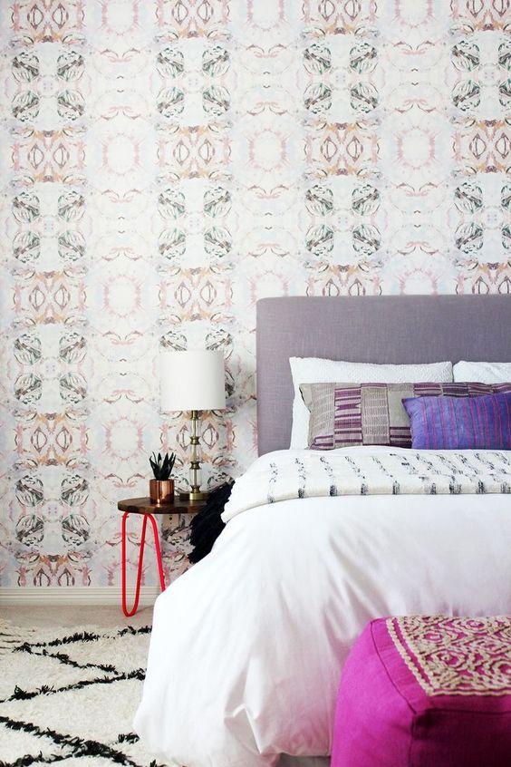بالصور اشكال ورق جدران , اخفاء عيوب الجدران واطلالات عصرية من خلال ورق الحائط 1466 11